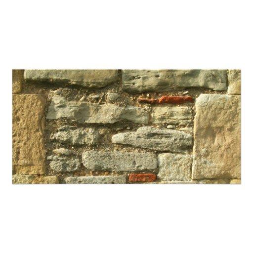 Stone Wall Image. Customized Photo Card