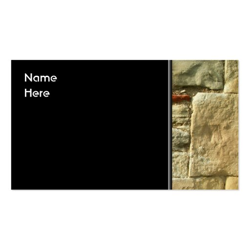 Stone Wall Image. Double-Sided Standard Business Cards (Pack Of 100)