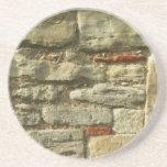 Stone Wall Image. Drink Coaster