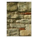 Stone Wall Image. Greeting Card