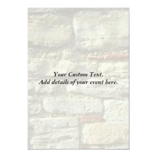 "Stone Wall Image. 5"" X 7"" Invitation Card"