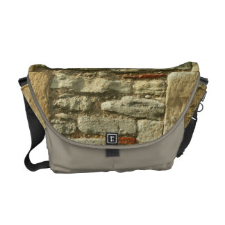 Stone Wall Image. Courier Bag