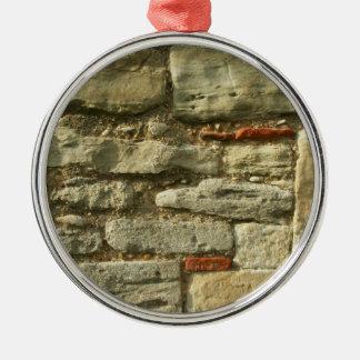 Stone Wall Image. Christmas Ornament