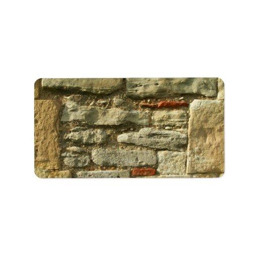 Stone Wall Image. Personalized Address Label