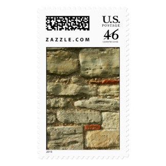Stone Wall Image Postage Stamps