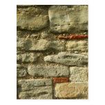 Stone Wall Image. Postcard