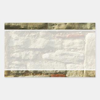 Stone Wall Image. Rectangular Sticker