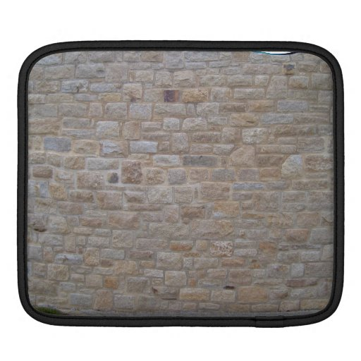 Stone Wall In a Grassy Landscape Sleeve For iPads