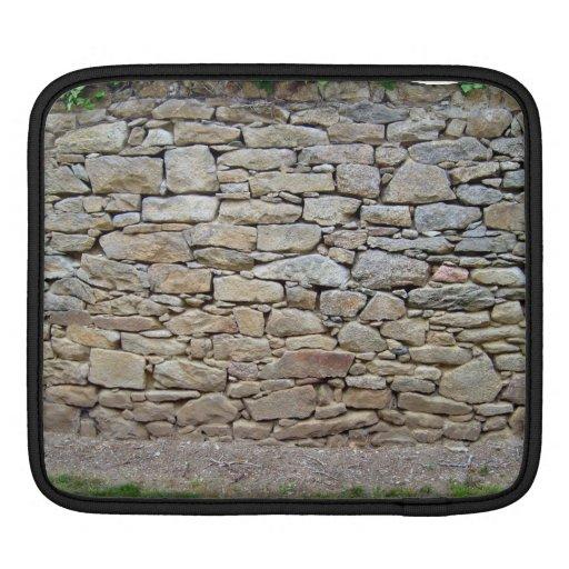 Stone Wall In Grassy Landscape iPad Sleeve