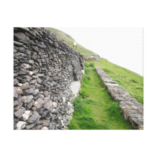 Stone Wall In Ireland Canvas Prints