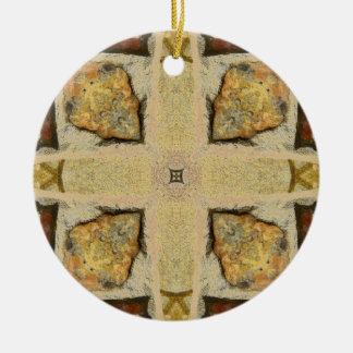 Stone Wall Kaleidoscope Pattern Ceramic Ornament