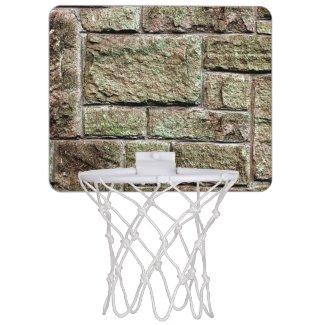 Stone Wall Mini Basketball Hoops
