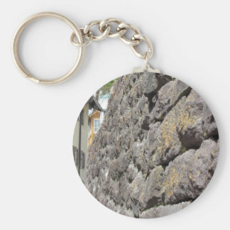 Stone wall perspective keychain