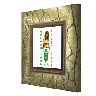 Stone wall photo border canvas wrap frame stretched canvas prints