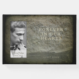 Stone wall Photo Frame Memorial Guest Book