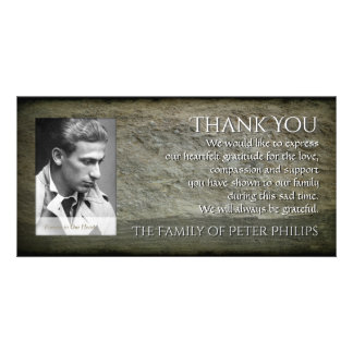 Stone wall Photo Frame Sympathy Thank You P 1H Card