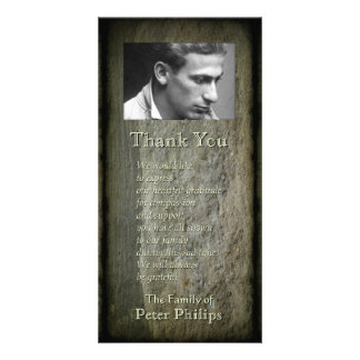 Stone wall Photo Frame Sympathy Thank You P 2V Card