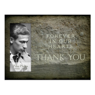 Stone wall Photo Frame Sympathy Thank You postcard