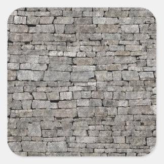 Stone Wall Square Sticker