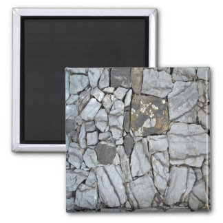 Stone Wall, Stacked Stones 2 Inch Square Magnet