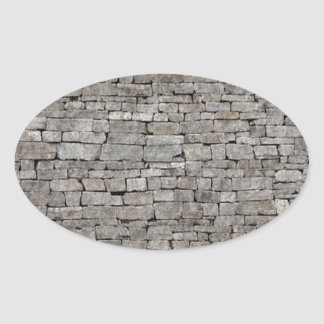 Stone Wall Oval Stickers