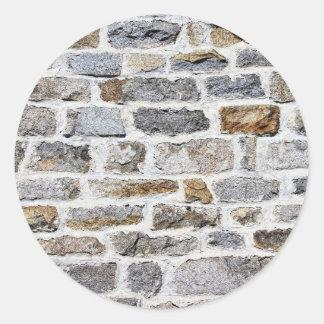 Stone Wall Texture Classic Round Sticker