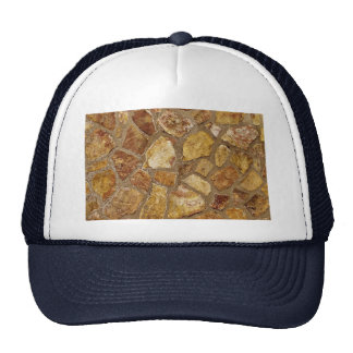 Stone wall texture mesh hat