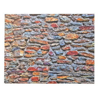 Stone wall texture notepad