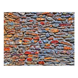 Stone wall texture postcard
