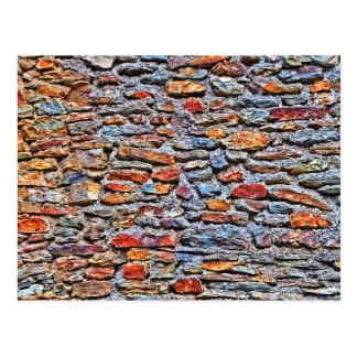 Stone wall texture postcard