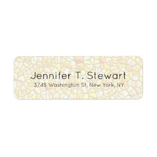 Stone Wall Trendy Chic Modern Professional Elegant Label