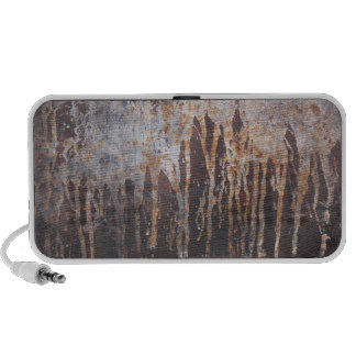 Stone Wall With Rusty Paint Texture Music Speaker