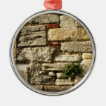 Stone Wall. With small plant. Christmas Ornaments