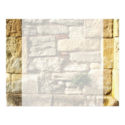 Stone Wall. With small plant. Customized Letterhead