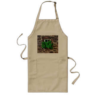 Stone Wall with Window Plants Long Apron