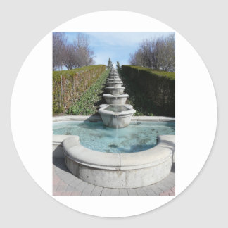 stone water fountain classic round sticker