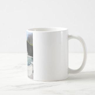 stone water fountain mug