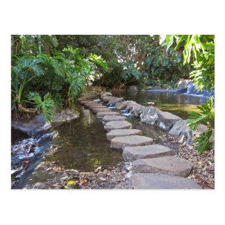 stone water walkway postcard