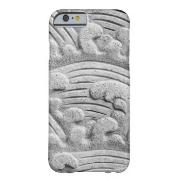 Stone Waves Photo Ancient Style Gray iPhone Case