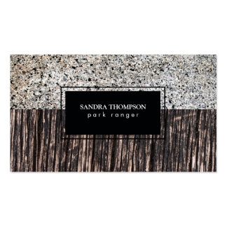 Stone & Wood Business Card