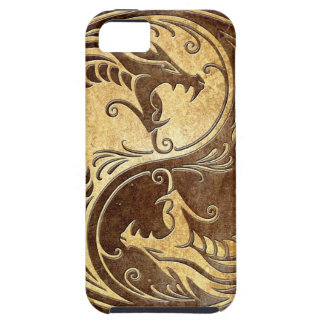 Stone Yin Yang Dragons iPhone 5 Cases