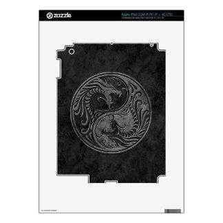 Stone Yin Yang Dragons iPad 3 Skin