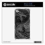Stone Yin Yang Dragons Skins For iPhone 4