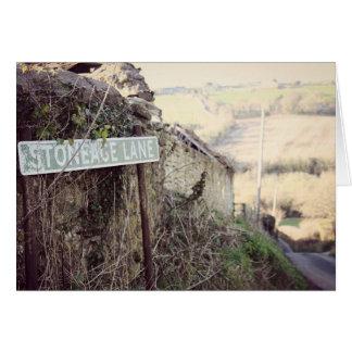 Stoneage Lane Card