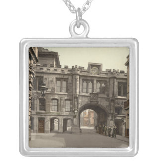 Stonebow, Lincoln, Lincolnshire, England Square Pendant Necklace