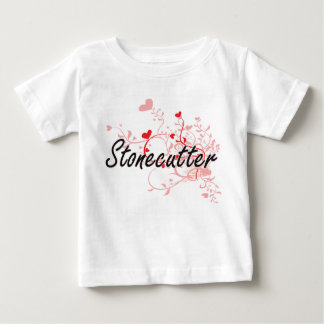 Stonecutter Artistic Job Design with Hearts Tee Shirt