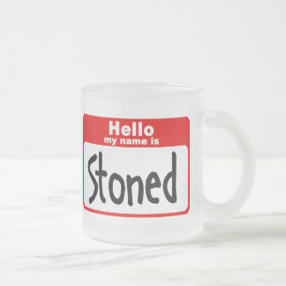 stoned2 frosted glass coffee mug