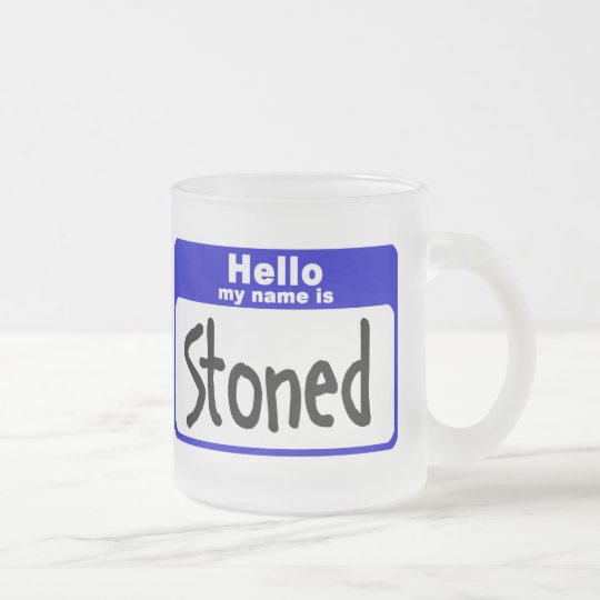 stoned3 frosted glass coffee mug
