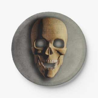 Stoned 3D Halloween Skull Paper Plates 7 Inch Paper Plate