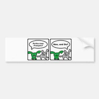 Stoned Bunnies – Parlez-vous Français? Nee,... Bumper Sticker